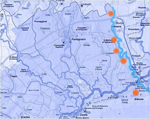 Itinerari in provincia itinerari di bibione e caorle percorsi dell
